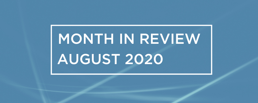 Wireless and Networking Month in Review for August 2020