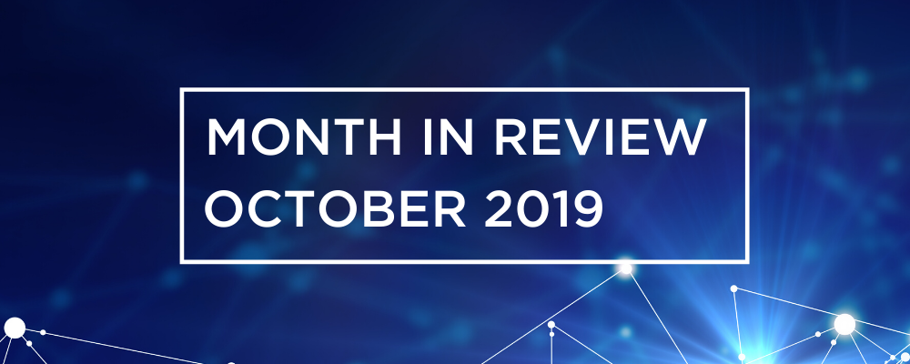 Wireless and Networking Month in Review for October 2019