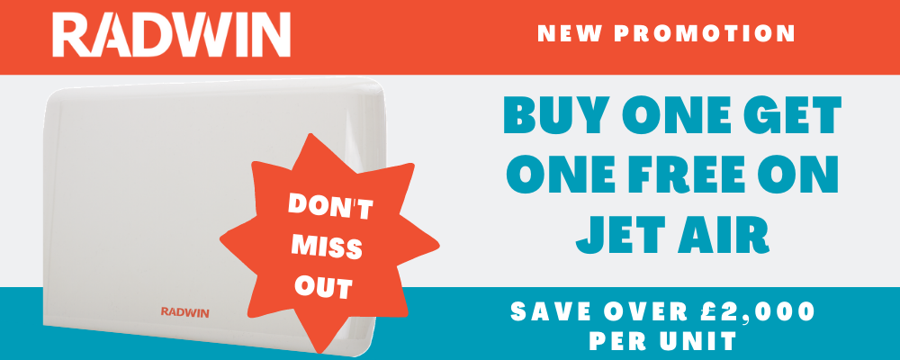 RADWIN Jet Air Buy One Get One Free Promotion