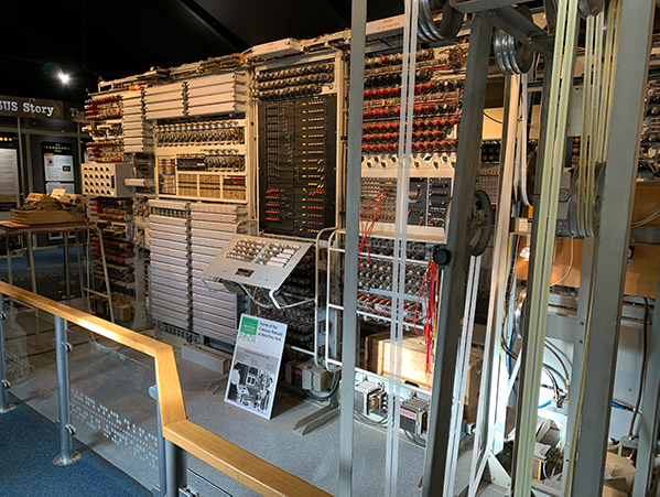 World famous working rebuild of Colossus, the first electronic computer at The National Museum of Computing