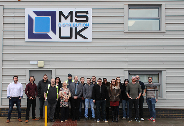 The MS Distribution Team outside their new Thorpe Mead Office
