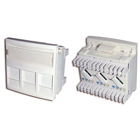Cat 5e Triple Ethernet Outlet