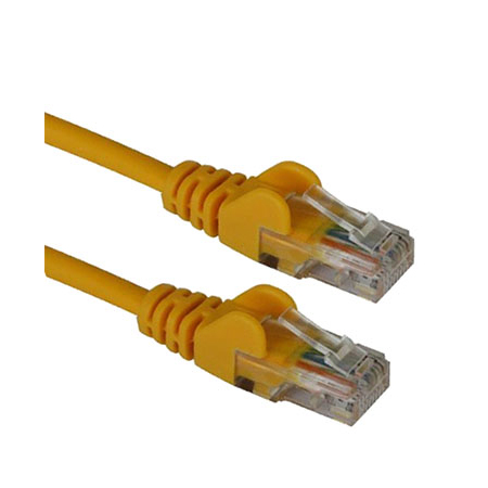 CAT5e RJ45 UTP Patch Cable - 0.5m YELLOW