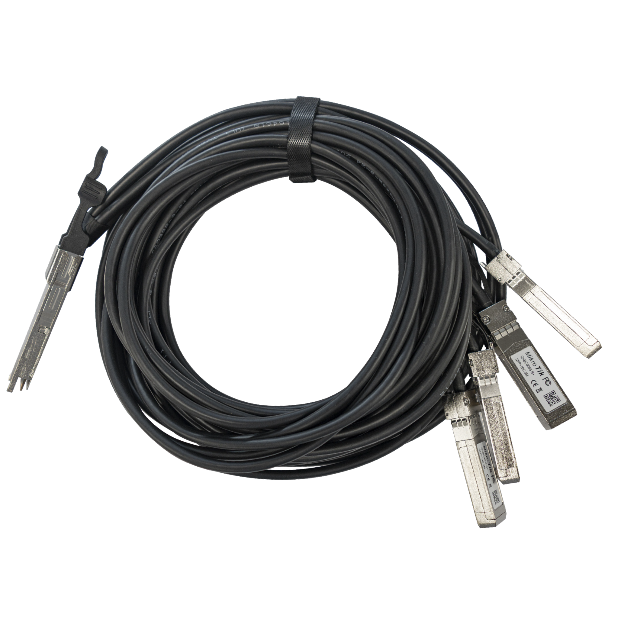 MikroTik Q+BC0003-S+ 40Gbps to 4x 10Gbps Brake-Out Cable - 3m