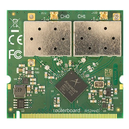 MikroTik R52HnD 2.4/5GHz mini-PCI Wireless Card