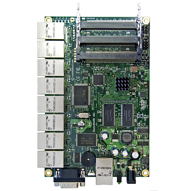 MikroTik RouterBOARD RB493 System Board