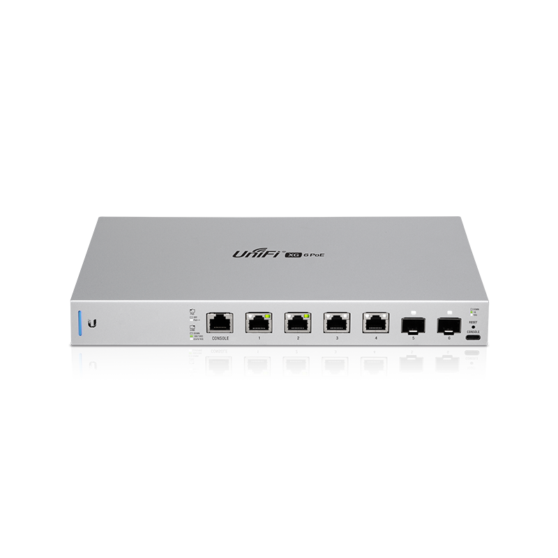 Ubiquiti UniFi US-XG-6POE 10 Gigabit 6-Port 802.3bt PoE++ Switch